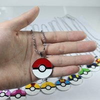 action jewelry - 12models Pokémon Alloy Ball pendant necklaces Pocket Monster pendant Pikachu Action Figures Anime jewelry Christmas gift E1220
