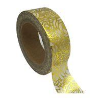 Wholesale New x Chinese Rose Floral Hot Stamping Gold Foil Japanese Washi DIY Tape Decorative Masking Tape Cinta Adhesiva cm m