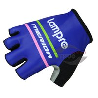 Wholesale 2 Pairs Pro Team Lampre Cycling Gloves Half Finger Bicycle Gloves For Men Bike Wear Gear Protection Maillot Ciclismo Cycling Wear