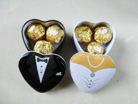 Cheap Free shipping Bride groom Mint tin wedding favor box 200PCS LOT dressed to the nines wedding candy box