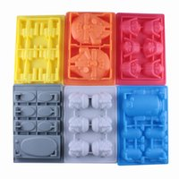 Wholesale Silicone star wars ice cube tray molds Creative US DIY model FDA silicone chocolate cake mold ice box set with packagin