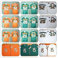 american ray - Stitched Miami Hurricanes Football Jerseys NCAA College Ed Reed Jersey Brad Kaaya Sean Taylor Ray Lewis Jersey Sport