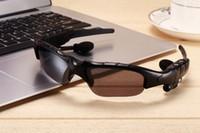 Wholesale Smart Bluetooth Sunglasses Stero Sun glasses wireless Camera G SD Card Bluetooth MP3 Handfree Phone call Sunglasses