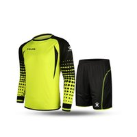 Wholesale Kelme K15Z209 Men Long Sleeve Tight Printing Wicking Super Stretch Competition Training Soccer Goalkeeper Suit Yellow Black
