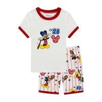 Wholesale children s pajamas cartoon sleepwear Mickey Mini Home Furnishing cotton short sleeve kids clothing children pajamas set