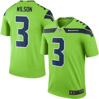 Wholesale 2016 New arrival Mens Seattle Football Jerseys Seahawks Russell Wilson Fan Stitched Green Color Rush Limited Jersey