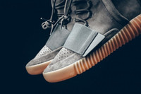 Cheap Adidas Originals Yeezy Boost 750 Glow Dark Grey Black Running Shoes Men Women In The Dark Kanye West Casual Shoes Size 5-11.5