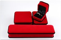 Wholesale Elegant pure color Jewelry box fashionable box case for Jewelry Box Packing box with flannel box Gift Case