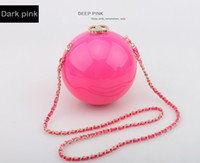 ball bag polyester - Fashion Ball Shape Globe Pearl Evening Clutch Bags Famous Brand Luxury Bridesmaid Pearl package Party Purse Chain Hand Bag