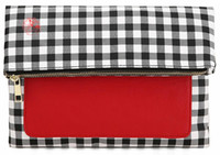 Wholesale tang sheng hong popular IPad Holder Clutch red with gingham Ipad protection of fold over style CSX06