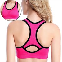 Wholesale Absorb Sweat Quick Drying Sports bra Shockproof Fitness Vest Running Tennis clothes Wireless for Women Without Steel bra