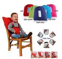 Wholesale EMS NEW kiskise Baby Eat chair Seat belt sack n seat Portable Baby Dining Chairs belts colors