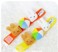 Wholesale PIECE Super cute children short plush cartoon magic paste wrist band ring
