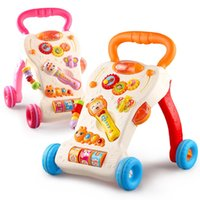 baby musical walker - Hot Baby Market Hand Push Walker Funny Toddler Push Toys Musical First Steps Learning Assistant Utility Carts JN0081