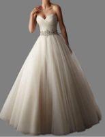 Wholesale Hot Sale New Arrival Belt A line Sweetheart Tulle Women Vestidos White Ivory Wedding Dresses