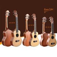 acoustic guitars music - 21 inch Ukulele Guitar Music Instrument soprano Acoustic Guitar Spruce Ukulele Hawaii Guitar strings mini guitar in stock