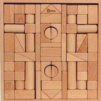 best wooden blocks for kids - Building Blocks baby toy Beech wooden original color no harm to baby best gift for kids