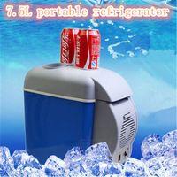 auto refrigerators - 2016 New Universal L Auto Car Truck Mini Refrigerator Portable cooler box heating Preservation Box car fridge