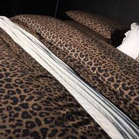 Wholesale Sexy King Comforter Sets - leopard bedding set king size duvet cover  sheet set elegant bedding 100% cotton bed love sexy home textile