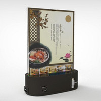 advertising for restaurants - New Product Quick Charger Restaurant Menu Power Bank Stand with Acrylic for Advertising
