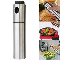 Wholesale Top Quality Silver Portable Stainless Steel Oil Bottle Sprayer Olive Pump Spray Fine Cookware Kitchen Tool