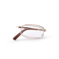 Wholesale High Quality Stainless Steel Full Rim Men s Folding Reading Glasses Rectangle Classic Reader CQ1003