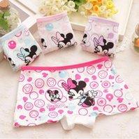 Cotton Mini Boxers Briefs - New children s cartoon Mickey printed cotton underwear baby girls underwear boxer briefs kids panties GU030