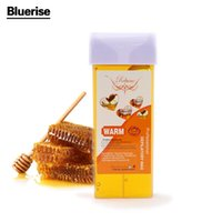 beeswax hair removal - 1 Honey flavour Depilatory Wax Epilator Cream Facial Body Hair Removal Nonwoven Women Wax Strip Smooth Legs Beeswax Depilation D044
