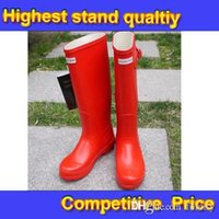 Wholesale Hunter Fashion Rain Boots Glossy Waterproof Women Wellies Boots Woman Rainboots Shoes for Rain Boots and Hiking Outdoor DHL Free