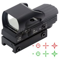 Wholesale Tactical Holographic Red Green Dot Reflex Reticle Sight Scope mm Weaver Rail Mount