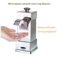 Wholesale Bathroom Accessories Chrome Liquid Soap Dispensers Luxury Automatic Sensor Soap Dispensers Touchless Sanitizer sabonete liquido