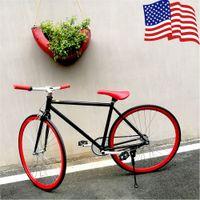 Wholesale US STOCK Unisex Road Bike Fixed Gear Bicycle Inch Single Speed Single Brake Dirt Racing Cycle