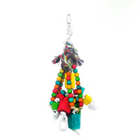 african grey parrots - Wooden Parrots Toys with beads MEDIUM PINEAPPLE WOOD BIRD TOY for small to large African grey conure