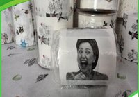 Wholesale For Fun Hillary Clinton Donald Trump Barack Obama Toilet Paper Novelty Funny Gag gift Toilet Paper