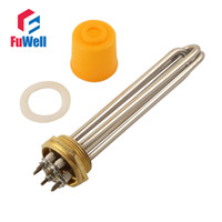 Wholesale 1 Inch Stainless Steel Copper Head Heating Tube V or V Electric Heater Pipe Water Boiler Heating Component