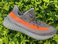Wholesale Boost SPLY V2 quot Beluga quot Sneakers Kanye West Shoes Steel Gery Orange SPLY Boost Season Running Shoes Sneakerss Grey With BOX