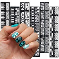 Wholesale 6 Pc Set Susan Reusable Stamping Tool DIY Nail Art Hollow Template Stickers Stamp Stencil Guide