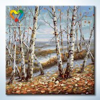 art birch - Birch Forest Wall Art DIY Painting Baby Toys x40cm Artistical Canvas Oil Painting Drawing Wall Art for Lover Gift with SGS PONY CNAS
