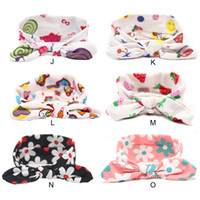 Wholesale Baby Girls Hair Accessories Lovely Bunny Ear Headbands Bows For Newborn Floral Knot Head Wrap Kids Elastic Hairband Twisted Turban KHA484