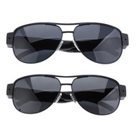 achat en gros de enregistrement video-HD 720P Mini caméras espion caché lunettes de soleil caméra lunettes de cadre en métal Eyewear enregistreur vidéo Mini Sports DVR Digital Audio Recording