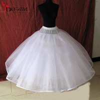 Wholesale New Cheap White Layer Petticoat for Wedding Dresses Bridal Wedding Underskirt Petticoats No hoops Layers In Stock