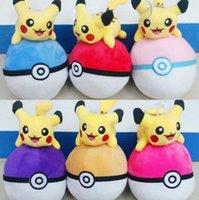 Wholesale Poke Mon Go Plush Toys cm Pikachu Poke Ball Soft Plush Toy Pendant Plush Doll Gift For Children Poke Toys Stuffed Animals