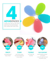 Wholesale New Arrival Colorful Multi function Soft Silicone Dish Cleaning Brush Fruit Vegetables Washing Kitchen Tool Helper Hot