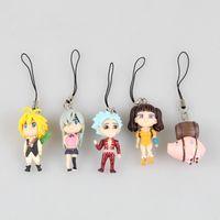 banned movies - Anime The Seven Deadly Sins Meliodas Hawk Elizabeth Liones Diane Ban PVC Figures Toys Pendants cm set