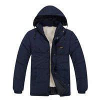 Wholesale Fall winter jacket Middle aged plus velvet thick warm coat jacket fitted Dad island stone clothes