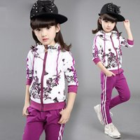 assurance briefs - Kids Girls Spring and Autumn new casual sports cotton floral two piece suit quality assurance