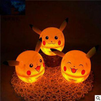 Wholesale Pikachu Led Table Lamp Poke Portable Energy saving Desk Lamp With Power Charger Desk Lamp Reading Lamp With Box CCA5018
