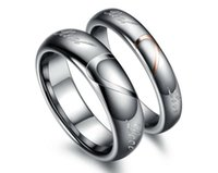 Wholesale Creative couple ring Love stitching Lord of the rings Tungsten ring gift couples WJ242 buddhist monastic discipline