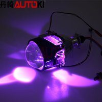 Wholesale Autoki Bi Xenon projector lens led devil eye with colors