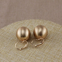 ball earrings clip - Big Wire Drawing CCB Ball Clip Earring Silver Rose Gold Color Geometry Concise OEM ODM